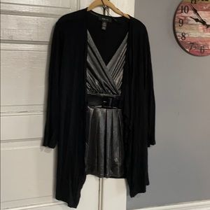 Women's Style & Co. Blouse with attached Jacket.